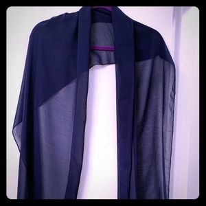 Navy Blue Sheer Shawl.  Perfect for evenings.